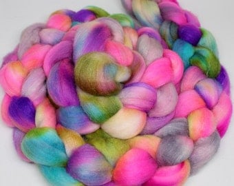 Hand Dyed Wool Top - Mystery Fiber - 4ozs