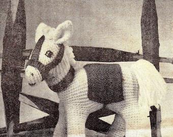 Knitting Patterns Donkeys Free : Pony post Etsy
