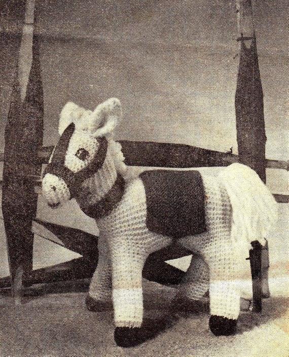 Knitting Pattern Toy Horse : PDF Knitting Pattern / Vintage Toy Horse Knitted toy Horse