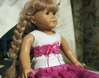 Jasmine - fancy tee and skirt/tights for American Girl