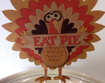 Turkey Thanksgiving Dessert Topper Eat Pie Cake Cupcakes Vegan Friendly