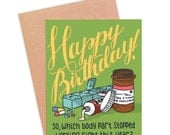 Funny Getting Old Birthday Card | Funny Body Parts Card | Funny Over The Hill Card - Body Parts