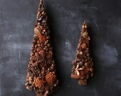 Two Vintage Trees Cones Nuts Natural Floral Decor For Christmas or Winter Home Decor 1970s From Nowvintage on Etsy