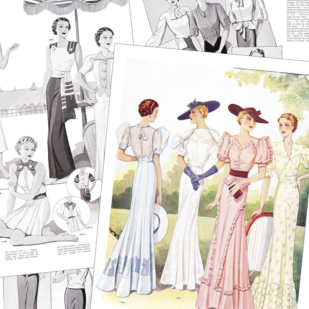 Pdf of 30s haute couture vintage sewing pattern by for Haute couture seamstress