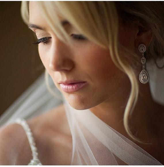 "Ivory bridal mantilla veil floral  leaf  lace edge simple 30"" single layer"