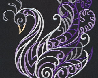 Swan Wild Spirals Embroidered Terry Kitchen Towel Bathroom Hand Towel