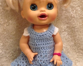 Clothes For 16 Inch Dolls . Dress Set.Your Choice of Color
