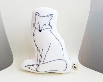 fox shaped pillow, fox cushion, plush fox, woodland animals