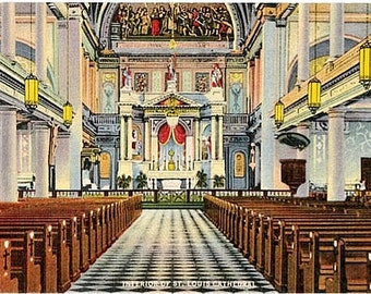 Vintage New Orleans Postcard - St. Louis Cathedral (Unused)