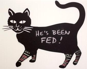Chalkboard Cat