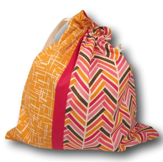Broken Herringbone - Duet Sheepie, a Project Bag for Knitting, Crochet, or Embroidery