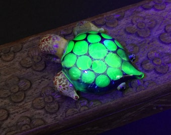 UV Silver Galaxy Turtle Pendant