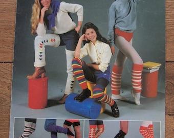 Vintage 1982 Knitting pattern Legwarmers