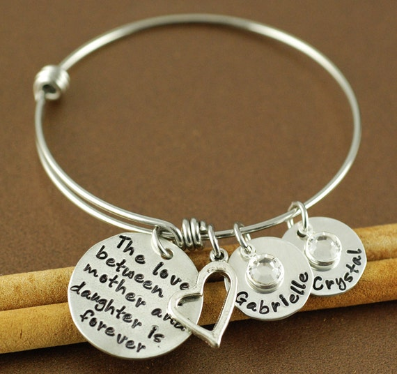 Personalized hand stamped bangle