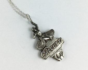 Calcutta Necklace, Calcutta Jewelry, Calcutta India, India Souvenir, India Gift, India Jewelry, Spoon necklace, Spoon Jewelry, Wife Gift