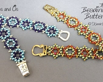 Hexes and Os Bracelet Pattern - Beadweaving Tutorial - Personal and Commercial