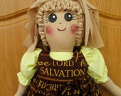 Plastic Bag Holder Doll, Religious Sayings, Recycle, Grocery Bag Holder, Country Kitchen, Kitchen Storage, Gift, Primitive Doll