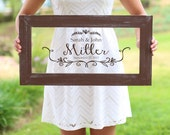Personalized Calligraphy Wedding Sign Bridal Shower Gift Wedding Present Custom Rustic Decor (item number NVMHDA1338)