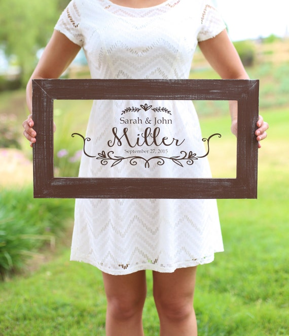 Personalized calligraphy wedding sign bridal shower gift