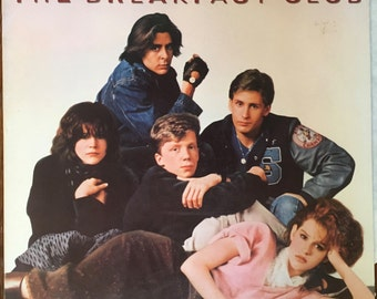 "The Breakfast Club movie soundtrack record album LP 12"" 33rpm 1985"