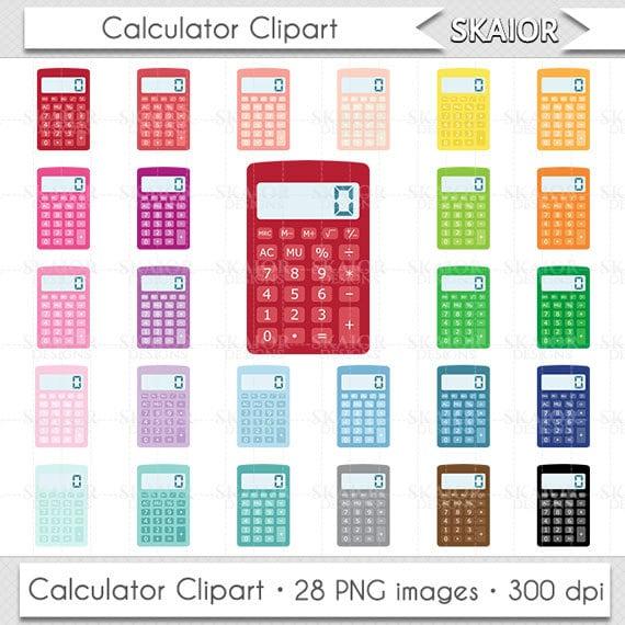 Calculator Clipart Calculator Clip Art Rainbow Color by skaior