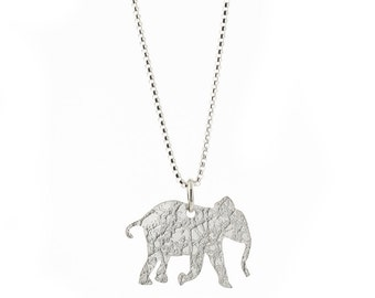 Elephant Sterling Silver Pendant