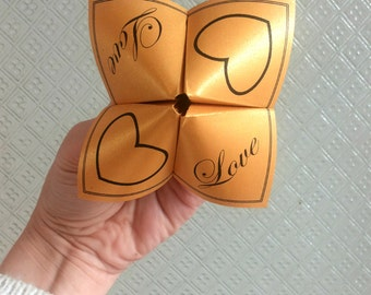 Valentine's Day Cootie Catcher - Wedding Cootie Catcher - Origami Cootie Catcher - Fun and easy to fold - Digital File
