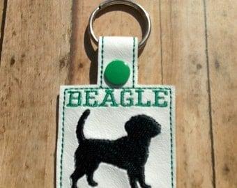 Beagle Key Chain - Green - Dog Keychain