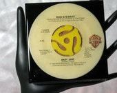 Rod Stewart - Very Cool Drink Coaster Made with The Original 45 rpm Record