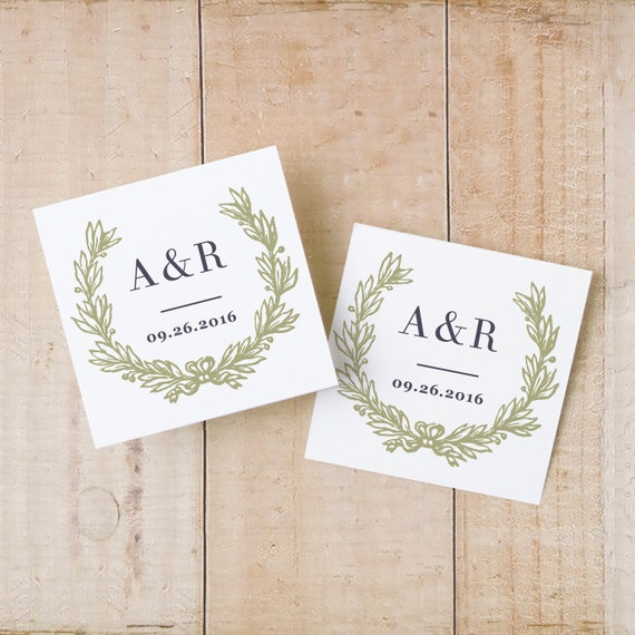 Wedding Favor Tags Template Word : Wedding Favor Tags & Labels INSTANT DOWNLOAD Wreath Gift Tags ...