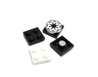Geek Magnet Set made from LEGO® Pieces and Star Wars Tile, Locker Magnets, Galactic Roundel Magnet - Perfect for LEGO® Themed Party