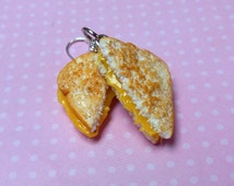 Grilled Cheese Earrings, Polymer Clay, Food Jewelry, Miniature Food, Hook earrings, Statement Jewelry