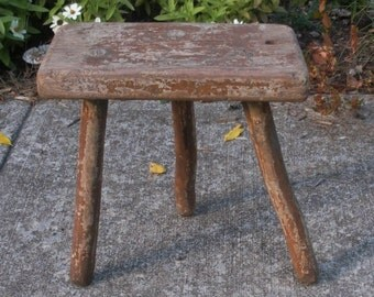 Antique Primitive Farmhouse 3 Leg Milking Stool & 3 legged stool | Etsy islam-shia.org