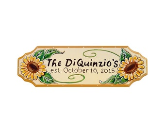 Personalized Sunflower Name SIGN 6x23