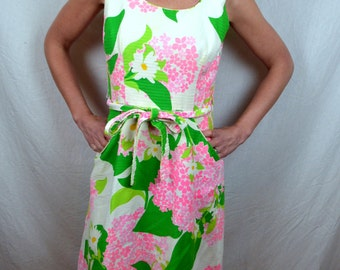 Sweet 1960s Floral Wrap Dress - Andrade