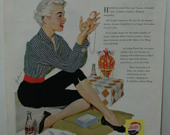 December 1955 Pepsi ad from Ladies Home Journal