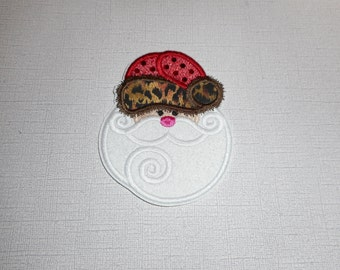 Free Shipping Ready to Ship   Santa Machine Embroidery iron on applique