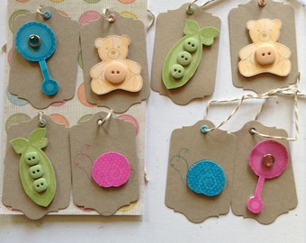 Baby gift tags set of 8