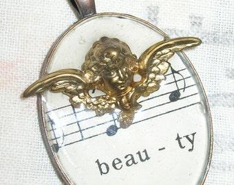 Angel Beauty Resin Pendant