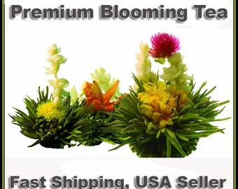Premium Blooming Tea Sampler (8 Tea Balls veriety, individually wrappped), Buy 2 Get 1 FREE, Buy 3 Get 2 FREE