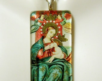 Madonna of Custonaci (Sicily) pendant with chain - GP01-109