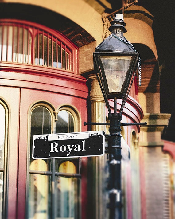 New Orleans Art, French Quarter Streetlamp Print, Royal Street Sign, Fine Art Photography Print, Living Room Decor, Gift for Her, NOLA Gift
