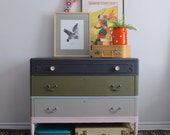 Striped Dresser/Changing Table - Painted with Annie Sloan Chalk Paint