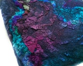 Nuno Felted Bag Hand Dyed Women Textile Tote Bag Multicolor Textured Purse OOAK Felt Gift Wool Silk Fashion Accessory