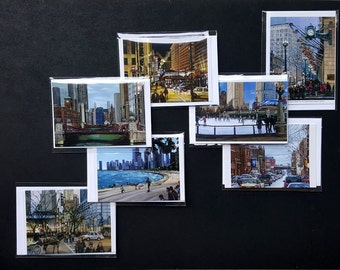 Chicago Greeting Cards Variety Pack of 7 Note Cards