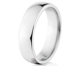 New 6 mm Cobalt Ring, Comfort Fit - Free Sizing 4-17:COB-6HR-P