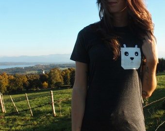 Panda in a pocket - oversize T-Shirt with a panda
