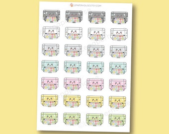 Kawaii Printer Stickers - cute planner stickers, Erin Condren stickers, Personal Planners