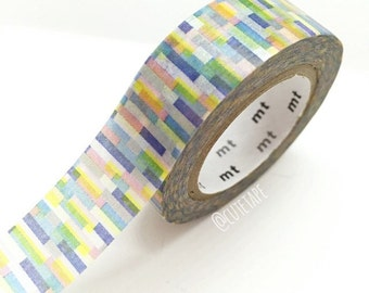 Japanese colorful Washi Tape Masking Tape navy pink green yellow gray Pretty Tape