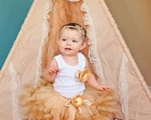 Gold Tutu Baby Girls Birthday Dress, Cake Smash Outfits for 1st Birthdays, Party Dress